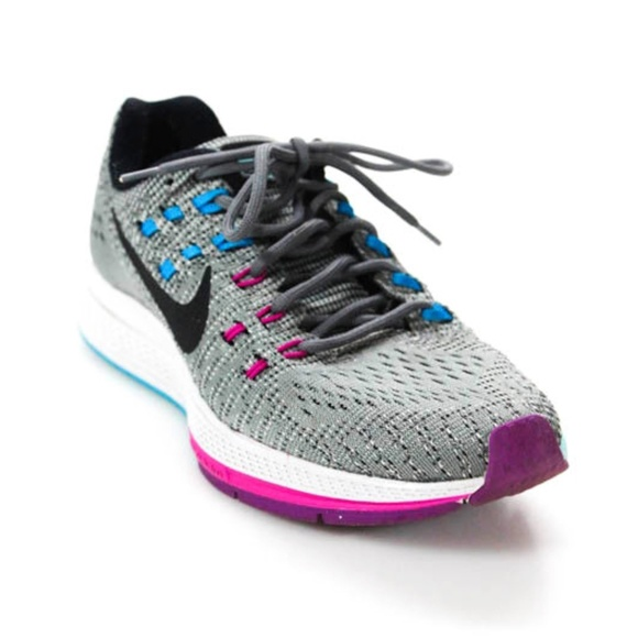 low priced a3ad6 c9bad Nike Zoom Structure 19 Grey Fuchsia Pink Blue Run